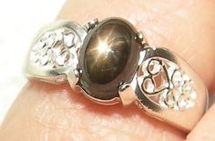 Little Star Black Sapphire Ring by Candiesthings on Etsy, $88.00