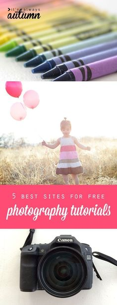 5 best sites for free online photography tutorials. I need to check these out and learn how to use my camera! #photographytutorials