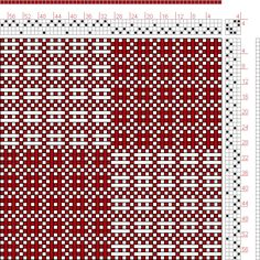 Hand Weaving Draft: Swedish Lace, , 4S, 4T - Handweaving.net Hand Weaving and Draft Archive
