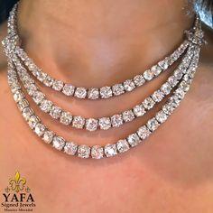Van Cleef & ARPELS vintage 3 row diamond necklace