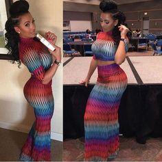 🌸2017🌸Women Sexy Party Bandage Bodycon Dress New Fashion Night Club Vestidos Crocktail Elegant 2PIECE Colorful Print Dresses