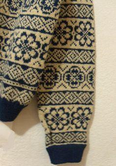 Men's s Wool Sweater Cardigan Blue White Snowflake Norwegian Handicraft Assoc | eBay