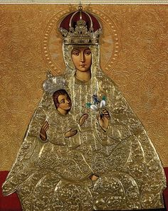 Our Lady of Trakai // Unknown artist // Lithuanian Art Museum Religious Images, Religious Art, Saints And Sinners, Queen Of Heaven, Jesus Christus, T Art, Gothic Art, Kirchen, Virgin Mary