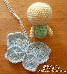 Making a crochet fairy amigurumi here are the wings