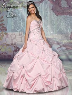 Disney Royal Ball; I love this collection!!! Not all of the dresses are this pretty, but a lot of them are! The whole collection is based on the Disney princesses, and each princess has her own line of quinceneara dresses. Just gorgeous!!! :D
