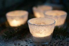 Kasvata suolalla kaunis huurteinen tuikku. Vielä ehtii tehdä joulupöydän kauneimmat koristeet itse. Candle Jars, Candle Holders, Candles, Some Ideas, Holidays And Events, Lanterns, Diy And Crafts, Christmas Crafts, Treats