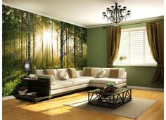 birch wood walltattoo