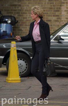 October 7, 1996:  Diana, Princess of Wales leaving Royal Brompton Hospital.