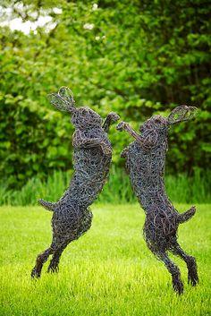 Wire Sculptures by Rupert Till