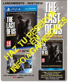 Games24: Reserva: The Last of Us para PS4 en GAMES24