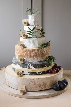 West Country Cheese Wedding Cheese Cakes - Celebration cakes made of cheese Cheesecake Wedding Cake, Pie Cake, Cakes To Make, How To Make Cake, Antipasto, Cheese Tower, Wheel Cake, Wedding With Kids, Wedding Ideas