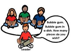 """""""Bubble gum, bubble gum, in a dish. How many pieces do you wish?"""""""