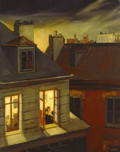 Sally Storch is a narrative scene painter interested in metropolitan life. Art And Illustration, Painting Inspiration, Art Inspo, Edward Hopper Paintings, Art Du Monde, Art Anime, Oeuvre D'art, American Artists, Painting & Drawing