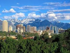 Skyline of Salt LakeCity, Utah love this..