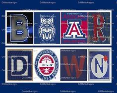University of Arizona Framed Alphabet Photo Art by DAMartndesign, $39.00