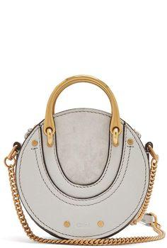8efc1609b CHLOÉ Pixie mini leather and suede cross-body bag Chloe Sandals, Dress  Sandals,