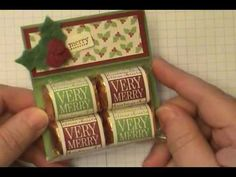 great video on making Hershey Nugget Christmas holder, from stamp to wrap to packaging (including quick tutorial on using Thingamijig)