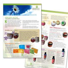 Brochure Design Client: Kosmetika Trinity, Czechoslovakia Work done: Concept & Execution Software used: Adobe Illustrator, Adobe Photoshop