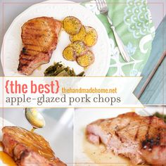 {the best!} apple-glazed pork chops | the handmade home