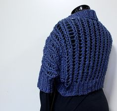 Ravelry: Project Gallery for Ribbed Lace Bolero pattern by Kelly Maher