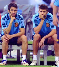 Cesc Fabregas and Gerard Pique - Spain NT
