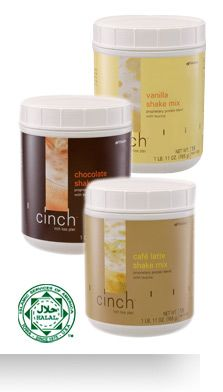 Inch loss with Leucine in Cinch Shake Mix.