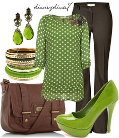 """Green Apple"" by disneydiva7 ❤ liked on Polyvore"
