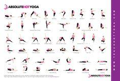 ABSOLUTE YOGA Hot Yoga Pose Chart   http://www.absoluteyogaacademy.com/hot-yoga-teacher-training/