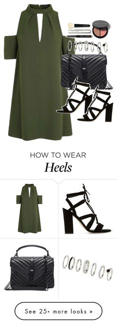 """Outfit for a party"" by ferned on Polyvore featuring Topshop, Yves Saint Laurent, Dune and Bobbi Brown Cosmetics"
