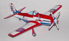 July 4th P-51 Mustang Paper Model page one