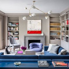 Our design for this San Francisco residence takes cues from the fog-hued, pastel-punctured palette of its surroundings. A range of cool… Hue, Home Office, Bookcase, Palette, Pastel, Shelves, Work Spaces, Contemporary, Cool Stuff
