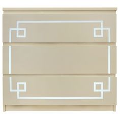 Show details for Pippa Malm #1 O'verlay Kit for IKEA MALM (3 drawer)