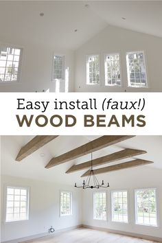 Faux Wood Beams: Heights House - Jenna Sue Design - Home Renovation Home Improvement Projects, Home Projects, Home Improvements, Home Renovations, Home Upgrades, Faux Wood Beams, Faux Wood Wall, Diy Casa, Up House