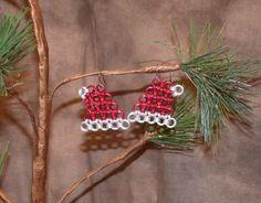 Chainmaille Santa Hat Earrings. $16.50, via Etsy.