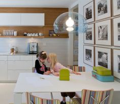Floating shelf with closed cabinets, playroom