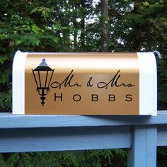mailbox card holder -- cute idea