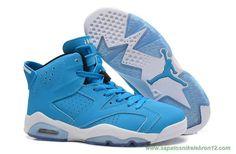 04e355dc0c2 tenis de marca barato AIR JORDAN 6 RETRO 205335-484 Azul Branco Air Jordan