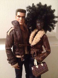 Dolls Ivan & Terra by Twisted Elegance 78 Fashion Royalty Dolls, Fashion Dolls, Barbie Y Ken, Diva Dolls, Pelo Natural, African American Dolls, Beautiful Barbie Dolls, Barbie Fashionista, Black Barbie