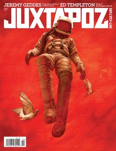 How great is this Juxtapoz cover? I was so excited to pick it out of the mailbox last night. Ashley Wood, Comic Cover, Comic Kunst, Bd Comics, Surreal Art, Graphic Design Inspiration, Amazing Art, Amazing Paintings, Awesome