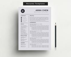Free Resume Cover Letter Template Download Stunning Creative Resume Template Instant Download  Resume Cover Letter .