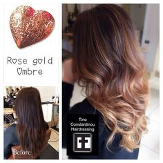 "26 Likes, 8 Comments - Tino Constantinou Hairdressing (@tinoconstantinou) on Instagram: ""Colour & Styling: Debbie Constantinou Created this beautiful Rose gold ombré yesterday for our new…"""