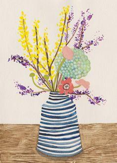 spring flowers art print | stephanie cole design.