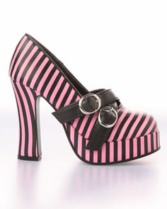 pink & black striped platform shoe from punk.com