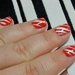 candy cane nails 150x150 Candy Cane Nail Art