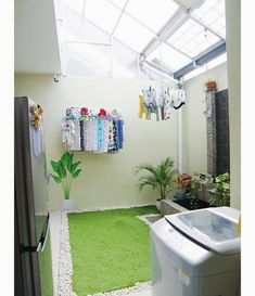 60 drying room design ideas that you can try in your home 16 ~ Litledress Outdoor Laundry Rooms, Tiny Laundry Rooms, Outdoor Kitchens, Home Room Design, Interior Design Living Room, House Design, Drying Room, Laundry Room Design, Home And Deco