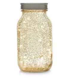 Gold Mason Jar Light