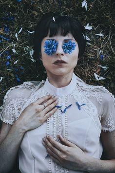 """Blue Flowers"" — Photographer: Michele Maglio – Mic Photo Model: Eugenia Akhanova"