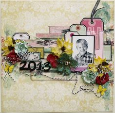Layout created by Ulrika with C´est Magnifique November kit!