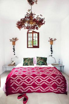 the boho bedroom.