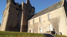 Crathes Castle in February sunlight - just don't get locked in!